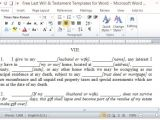 Quick Will Template Free Last Will and Testament Template for Word