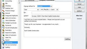 Quickbooks Change Email Template How to Change An Email Template In Quickbooks Quickbooks