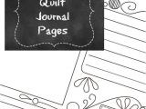 Quilt Journal Template Free Quilting tool Printable Quilt Journal Page I Sew Free