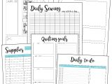 Quilt Journal Template Quilt Planner Printables