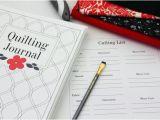 Quilt Journal Template Quilting Journal Printable Quilt Journal Binder Set