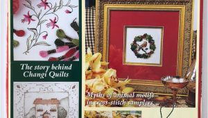 Quilters Creative touch Gold Card Australian Embroidery Cross Stitch Magazine Vol 7 No 11 Creative Ideas for Christmas Un Used Pattern Sheet Included