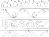 Quilting Templates for Borders Love Cabin Quilting Motifs for Sashing Border Design