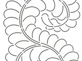 Quilting Templates for Borders Quilt Stencil Feather Border 8in for Use with 422qc