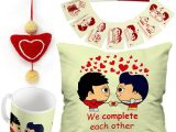 Quotes for A Valentine Card Indigifts Valentine Day Love Quote Gay Couple Illustration Green Cushion Cover 12×12 with Filler Mug 330 Ml 8 Love Postcards and 1 Heart Hanging