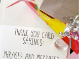 Quotes to Put In A Thank You Card Thank You Card Sayings Phrases and Messages to Say Thanks