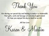 Quotes to Put In A Thank You Card Wedding Thank You Quotes Quotesgram