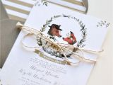 Quotes to Write In A Wedding Card Fox Wedding Invitations Illustrated Wedding Invitations
