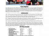 Race Car Driver Resume Sample Salter Racing 2016 Resume Sponsorship Package