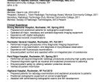 Radiologic Technologist Student Resume Resume for Radiologic Technologist Resumes Design