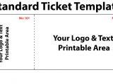 Raffel Ticket Template Free Blank event Raffle Ticket Template Word Calendar