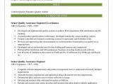 Ran Engineer Resume Senior Quality assurance Engineer Resume Samples Qwikresume