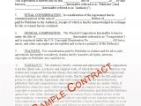 Rap Contract Template Free Music Contracts Protect Your Brand 1 Music