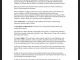 Rap Contract Template Music Publishing Agreement Free form with Sample