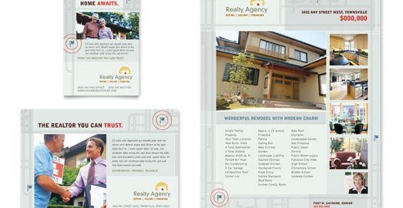 Real Estate Agent Brochure Templates Real Estate Agent Realtor Flyer Ad Template Design