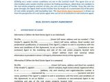 Real Estate Agent Contract Template Agent Contract Template 10 Free Word Pdf format