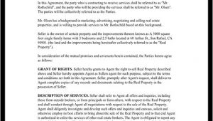Real Estate Agent Contract Template Real Estate Agent Contract Independent Contractor