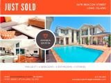 Real Estate Just sold Flyer Templates Blue White Clean Modern Just sold Postcard Templates by