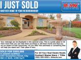 Real Estate Just sold Flyer Templates Remax Eddm Just sold Postcards