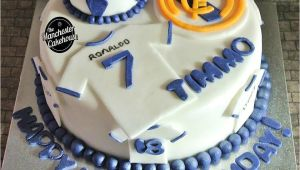 Real Madrid Happy Birthday Card Real Madrid Football Cake From the Manchester Cakehouse