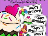 Recipe for A Happy Birthday Card Birthday Certificates Birthday Certificate Teacher