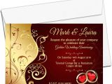 Recipe for A Happy Marriage Card Template 10 Personalised Golden 50th 40th Ruby Wedding Anniversary Invitations Invites N6