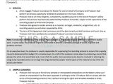 Record Producer Contract Template Producer Contract for Working with A Signed Artist