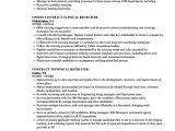 Recruiter Contract Template Recruiter Contract Resume Samples Velvet Jobs