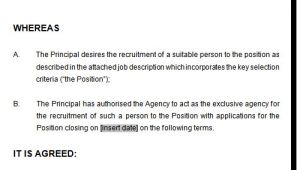 Recruitment Agency Contract Template Recruitment or Employment Agency Agreement Template