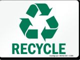 Recycle Sign Template Free Recycling Signs Customize Download Print