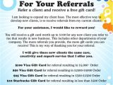 Referral Program Flyer Template Referral Flyer Gift Card