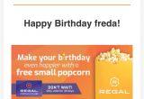 Regal Club Card Birthday Reward Freda Doxey A Wiseone4 Twitter