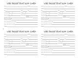 Registration Cards Template Vbs Tips Vbs Registration Ideas