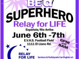 Relay for Life Flyer Template Relay for Life Superhero themed Advertisement the Local