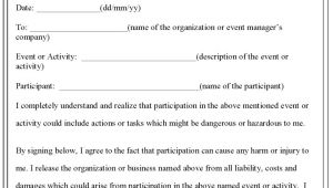 Release Of Liability Contract Template Free Printable Liability Waiver Sample form Generic