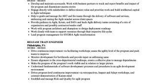 Release Train Engineer Resume Release Train Engineer Resume Samples Velvet Jobs