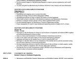 Reliability Engineer Resume Maintenance Reliability Engineer Resume Samples Velvet Jobs