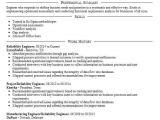 Reliability Engineer Resume Reliability Engineer Resume Sample Engineering Resumes