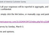 Reminder Email Template for Survey Bank Of America On Short List Of Scammers Spam Lures