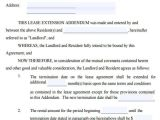 Rental Contract Extension Template 32 Lease Agreement forms In Pdf