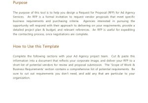 Request for Proposal Email Template Advertising Agency Rfp Template