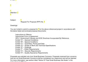Request for Proposal Email Template Rfp Invitation Letter