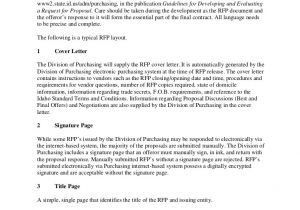 Request for Proposal Email Template Sample Request for Proposal format