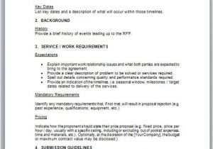 Request for Proposal Email Template Short form Rfp Sample Rfp Templates Rfp Templates