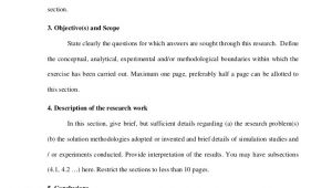 Research Synopsis Template Synopsis format