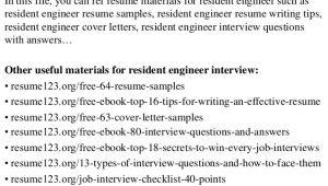 Resident Engineer Resume top 8 Resident Engineer Resume Samples