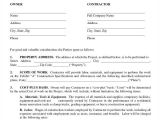 Residential Building Contract Template 53 Contract Agreement Templates Pages Docs