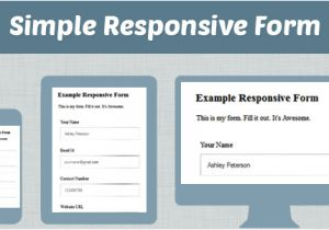 Responsive Stylesheet Template How to Make Simple Responsive form Using Css HTML formget
