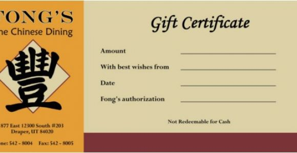 Restaurant Gift Certificate Template Free Download 20 Restaurant Gift Certificate Templates Free Sample