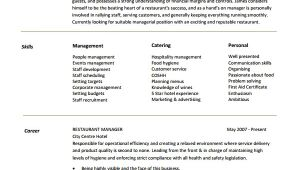 Restaurant Manager Resume Word format Restaurant Manager Resume Template 6 Free Word Pdf